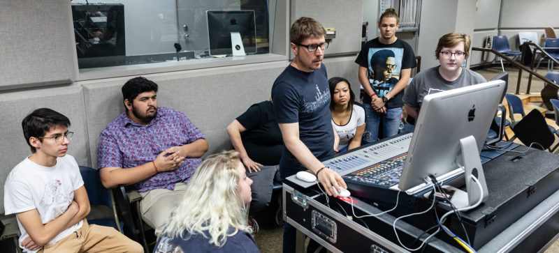 MBPT students participating in a Live Sound class