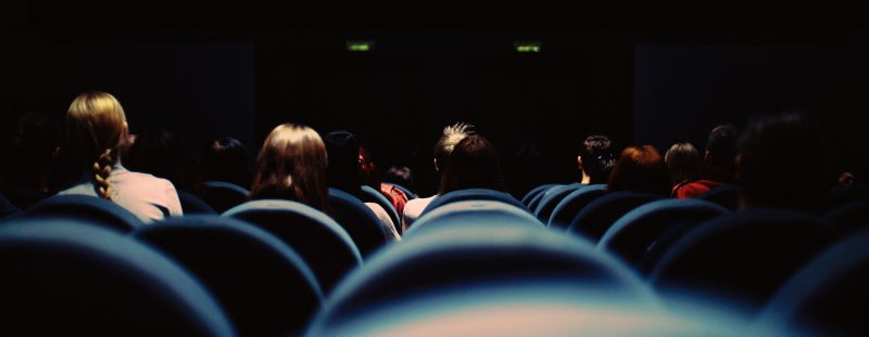 Students in a theater