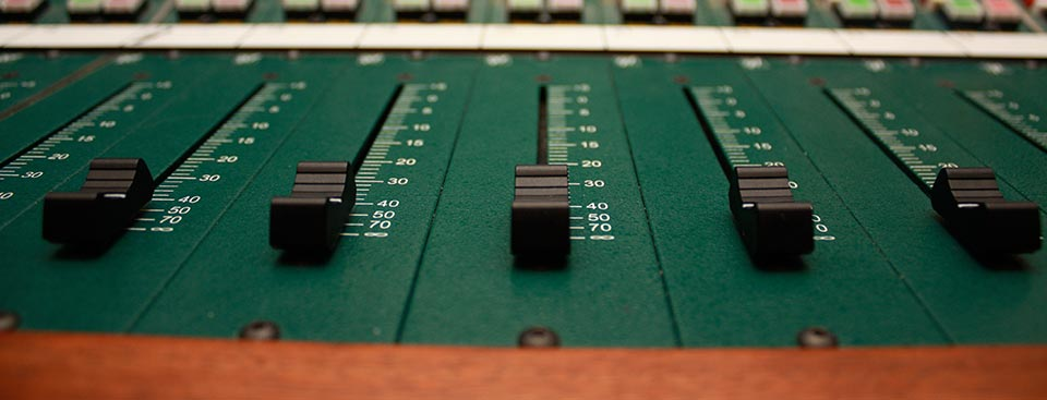 Sound board close up